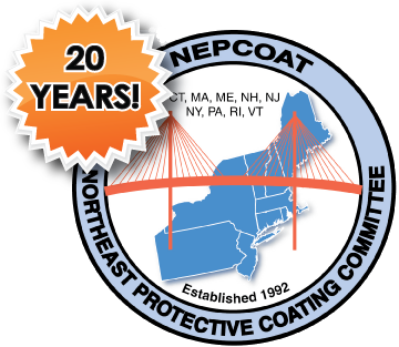 This is the 20 year logo for NEPCOAT